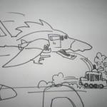 Screamer Deathhawk jettisoning Tanksicab Destroyer