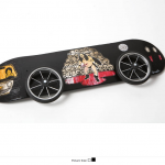 Abe Lincoln Jr.'s Boogie Van custom skate deck now available - 100% of proceeds goes to benefit Skateistan.org