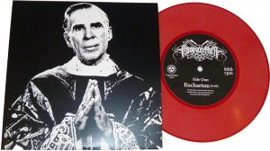 "Fugue State Records first release Asspanther's ""Eucharism"" 7"" Art Object available Friday March 4th @ Wootini Gallery"