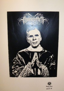 """Fugue State Records first release Asspanther's """"Eucharism"""" 7"""" Art Object available Friday March 4th @ Wootini Gallery"""