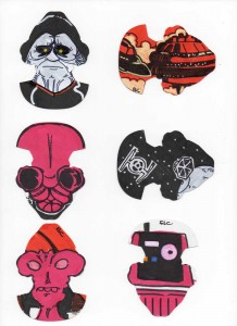 Complete Reveal of Star Wars Galaxy Series 6 cards by Abe Lincoln Jr.