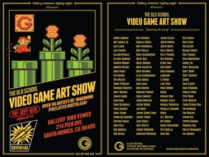 Abe Lincoln Jr. in The Old School Video Game Art Show @ Gallery1988, Venice Sept 16th 2011