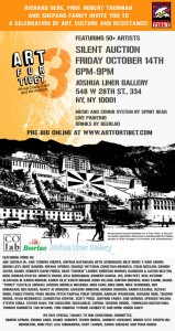 Art for Tibet x Abe Lincoln Jr. - Joshua Liner Gallery Fri. Oct. 14th