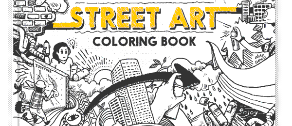 Ultimate Street Art Coloring Book feat. Abe Lincoln Jr.